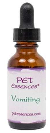 Flower Essence for Vomiting in Dogs, available from www.carolesdoggieworld.com – use to balance the emotional attitudes that present the physical state of disease and vomiting.